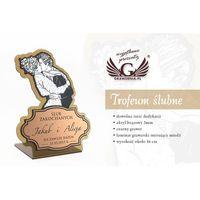 Trofeum akrylowe - ślub, rocznia - model DTA30