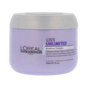 L'oréal maska wygładzająca do włosów liss unlimited – 200 ml