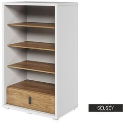 Selsey regał massi 141 cm z jedną szufladą (5903025554020)