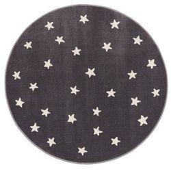 Dywan okrągły Soft Gwiazdy 133 cm granitowy (5901760083621)