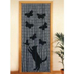 Wenko Zasłona bambusowa kot i motyle, 90x200 cm,