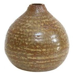 HK Living Brązowy ceramiczny wazon - HK Living ACE6015