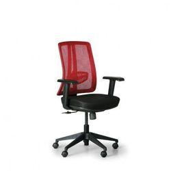 Krzesło biurowe Human, czarny/czerwony