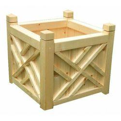 Kwadratowa drewniana donica ogrodowa 15 kolorów - irma marki Elior