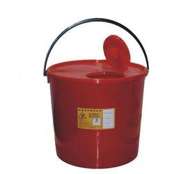 Czerwony pojemnik na odpady medyczne i zużyte igły 2l marki Plaspol