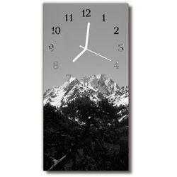 Zegar Szklany Pionowy Krajobrazy Góry widok szary, kolor szary