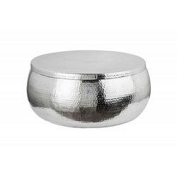 Sofa.pl Invicta stolik kawowy orient storage - 70cm, aluminum, metal, srebrny