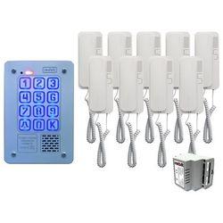 Radbit Zestaw 9-rodzinny cyfrowy panel domofonowy kec-4 pt mini gd36