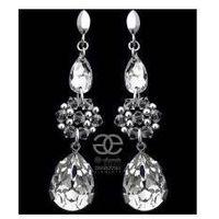 Arande Swarovski ślubne piękne kolczyki crystal srebro