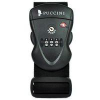 Pas do walizki z zamkiem szyfrowym  tsa355 czarny - czarny marki Puccini