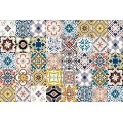 Winylowy dywan rica z motywem cementowych płytek – 120 × 180 cm – wielokolorowy marki Vente-unique