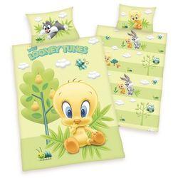 pościel bawełniana dla dzieci do łóżeczka looney tunes, 100 x 135 cm, 40 x 60 cm marki Herding