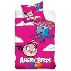 Tip Trade Pościel bawełniana Angry Birds Rio Pink Bird, 160 x 200 cm, 70 x 80 cm, 160 x 200 cm, 70 x 80 cm z kategorii Komplety pościeli dla dzieci