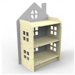 Planeco Drewniany regał domek szary, kategoria: regały i półki