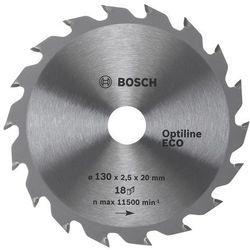 Bosch  tarcza pilarska optiline eco 160x20/16x2,5 mm, 18 zębów, kategoria: tarcze do cięcia