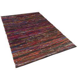 Beliani Dywan wielokolorowo-czarny bawełniany 140x200 cm bartin (4260580937684)