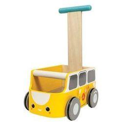 Goki Drewniany chodzik żółty van (8854740051844)