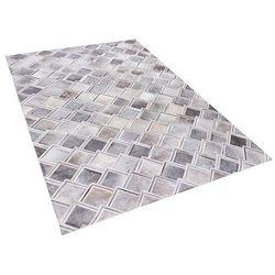 Dywan szary 160 x 230 cm skórzany agacli marki Beliani