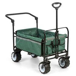 Waldbeck Easy Rider Ręczny wózek transportowy do 70 kg drążek teleskopowy składany kolor zielony (4060656102417)