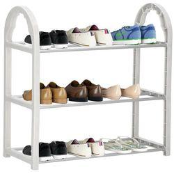 Szafka na buty z metalowymi 3 półkami regał szary marki Springos