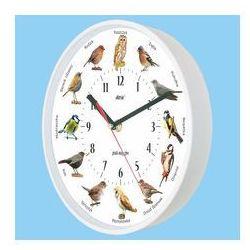 Zegar z głosami ptaków plastik biały #2, ATE2015WPS2