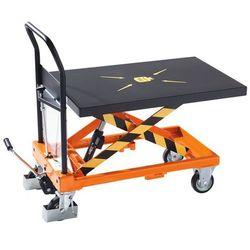 Nożycowy wózek podnośnikowy maximus, nośność 400 kg, podn. na naciśnięcie pedału marki Unbekannt