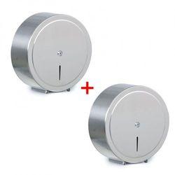 Pojemnik na papier toaletowy, stal nierdzewna, Ø 310 × 125 mm, 1+1 GRATIS