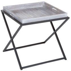 Drewniany stolik kawowy, kwadratowy - w stylu vintage, 48 x 48 x 48 cm