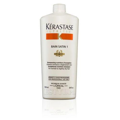 Kerastase Bain Satin 1 - Kąpiel odżywcza do włosów lekko suchych, uwrażliwionych 1000 ml ze sklepu Estyl.pl