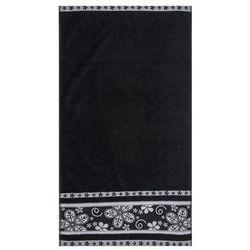 Florentyna Ręcznik kąpielowy Fiora czarny, 70 x 140 cm, 70 x 140 cm z kategorii Ręczniki