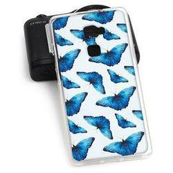 Fantastic Case - Huawei Mate S - etui na telefon Fantastic Case - niebieskie motyle (Futerał telefoniczny)
