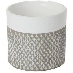 Doniczka ceramiczna GoodHome ozdobna 12 cm szara (3663602440970)