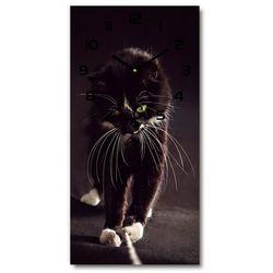 Nowoczesny zegar ścienny Czarny kot
