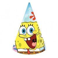 Czapeczki urodzinowe Spongebob kanciastoporty - 6 szt.