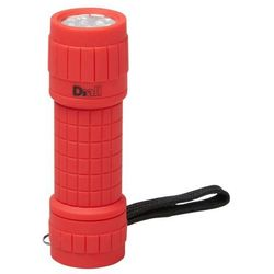 Latarka Diall 9 LED gumowa czerwona 3 x AAA (3663602904502)