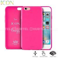 Etui PURO Icon Cover do Apple iPhone 6/6S Różowy IPC647ICONPNK, kolor różowy