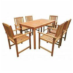 Drewniany zestaw mebli ogrodowych kint 2x - brązowy marki Producent: elior