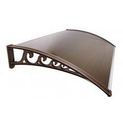 Metal-gum Daszek zadaszenie drzwi klasyczne 120 x 100 - brązowy