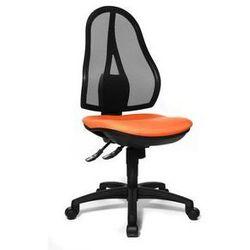 Obrotowe krzesło biurowe,bez poręczy, oparcie siatkowe czarne marki Topstar