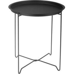 Okrągły stolik kawowy z metalu, mały stolik, stolik do kawy, stolik do pokoju, stolik do salonu, czarny stolik, metalowy stolik