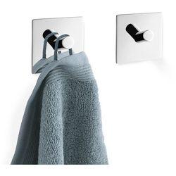 Zestaw 2 wieszaków na ręczniki duplo kwadratowy połysk marki Zack