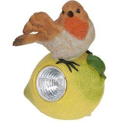 Lampa solarna ptaszek na owocu figurka kamienna - wzór ii, marki Progarden