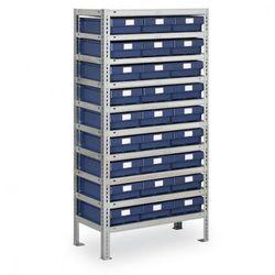 Regał z pojemnikami max - 1600x800x400 mm, 27x box e marki B2b partner