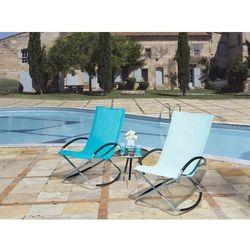 Beliani Krzesło ogrodowe niebieskie tekstylne składane casto (7105275864142)