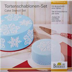 Szablony do dekoracji tortów Ice Crystal Birkmann (450 257)