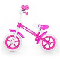 Rowerek biegowy Milly Mally Dragon z hamulcem pink