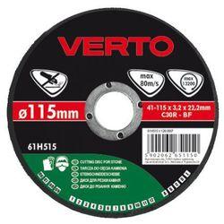 Tarcza do cięcia VERTO 61H525 125 x 3.2 x 22.2 mm do kamienia - produkt z kategorii- Tarcze do cięcia