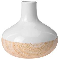 Home styling collection Ceramiczny wazon wood look na sztuczne kwiaty, dekoracje (8719202081091)