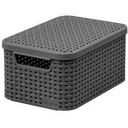 Koszyk do przechowywania CURVER POLAND Style Box S V2 + LID - DRG308 Ciemny szary