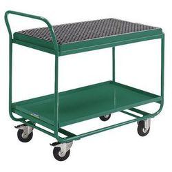 Wózek stołowy,z wanną wychwytową, rusztem kratowym i kurkiem spustowym